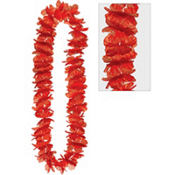 Red Hawaiian Lei 40in