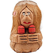 Coconut Maraca Woman Decoration 10in
