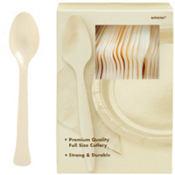 Vanilla Cream Premium Plastic Spoons 100ct
