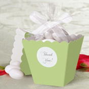 Leaf Green Popcorn Box Wedding Favor Kit 50ct