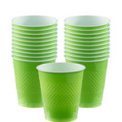 Kiwi Green Plastic Cups 20ct