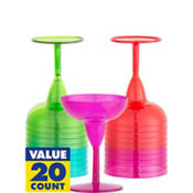 Fiesta Plastic Mini Margarita Glasses 2oz 20ct