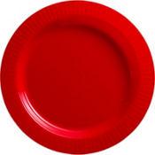 Red Premium Plastic Dinner Plates 16ct