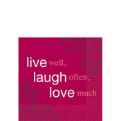 Live Well Laugh Often Beverage Napkins 16ct