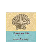 Shoreline Beverage Napkins 5in 16ct