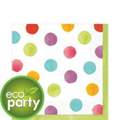 Watercolor Dots Lunch Napkins 36ct