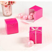 Bright Pink Wedding Favor Boxes 100ct