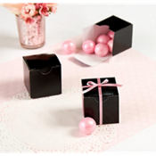 Black Wedding Favor Boxes 100ct