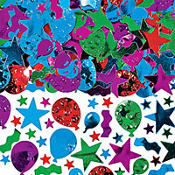 Balloon, Streamers and Stars Confetti 5oz