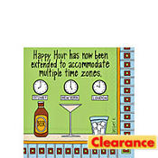 Time Zone Beverage Napkins