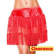 Adult Red Fringe Petticoat