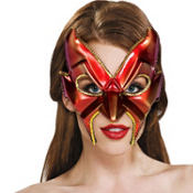 Red Sultry Devil Mask