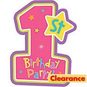 Pink Hugs & Stitches 1st Birthday Invitations 8ct