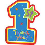 Hugs & Stitches  Boy's 1st Birthday Thank You Notes 8ct