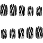 Zebra Print Nail Polish Strips 20ct