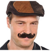 Brown Mini Handlebar Moustache