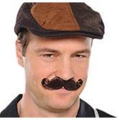 Brown Mini Handlebar Moustache