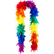 Rainbow Feather Boa 72in