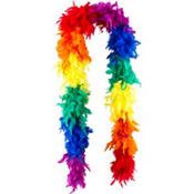Rainbow Feather Boa 72in