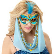 Jasmine Sequin Feather Mask