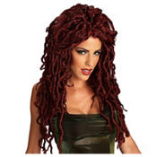 Dark Red Medusa Wig