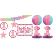 Girl 1st Birthday Decorating Kit