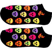 Neon Skull Ankle Socks