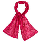 Fuchsia Sequin Scarf 60in