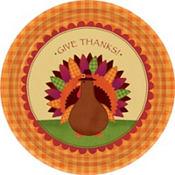 Turkey Dinner Plates 18ct