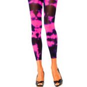 Adult Pink Tie-Dye Footless Tights