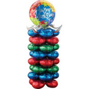 Birthday Blitz Balloon Column 72in