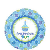 Foil Lil Cupcake Boy Balloon 18in