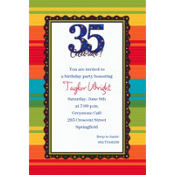 A Year to Celebrate 35 Custom Invitation