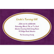 Plum Border Custom Invitation