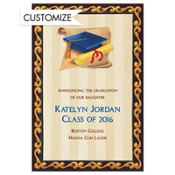 Blue Grad Portrait Custom Graduation Announcement