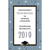 Grad Honors Custom Graduation Announcement