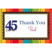 A Year to Celebrate 45 Custom Thank You Note