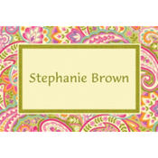 Pretty Paisley Custom Thank You Note
