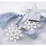 Snowflake Bookmark Wedding Favor