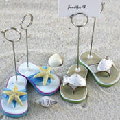 Flip Flop Place Card Holder Wedding Favor 4ct
