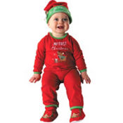 Baby First Christmas One Piece Pajama