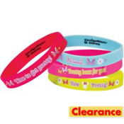 Minnie Mouse Wristbands 4ct