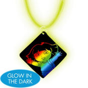 Dora the Explorer Necklace with Glow Pendant
