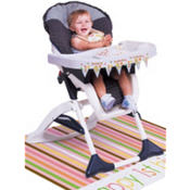 Sweet At One Girl High Chair Kit 3pc