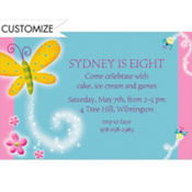 Dazzling Butterfly Custom Invitation