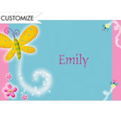 Dazzling Butterfly Custom Thank You Note