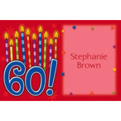 Great Birthday 60 Custom Thank You Note