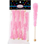 Pink Rock Candy Sticks 8ct