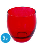 Red Glass Votive Candle Holders 2 3/4in 8ct