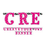 Zebra Party Create Your Own Banner Kit 84pc